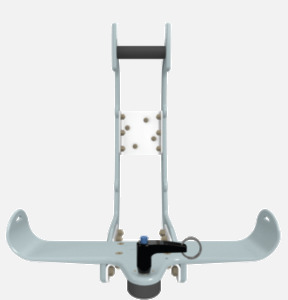 Hillaero HAMILTON FAA certified mountable bracket for Air Ambulance Airmed Helicopter or Fixed Wing Aircraft FRONT