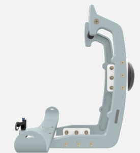 Hillaero HAMILTON FAA certified mountable bracket for Air Ambulance Airmed Helicopter or Fixed Wing Aircraft SIDE