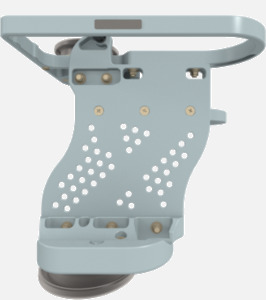 Hillaero LAERDAL FAA certified mountable bracket for Air Ambulance Airmed Helicopter or Fixed Wing Aircraft FRONT
