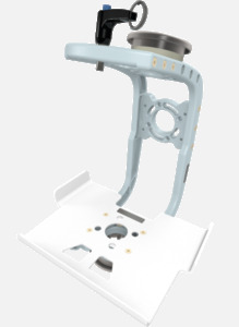 Hillaero PROPAQ MD FAA certified mountable bracket for Air Ambulance Airmed Helicopter or Fixed Wing Aircraft ISO1