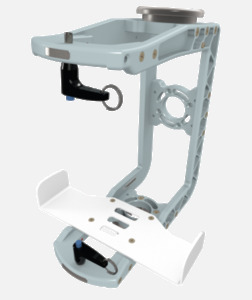 Hillaero WAPROPAQ FAA certified mountable bracket for Air Ambulance Airmed Helicopter or Fixed Wing Aircraft ISO1